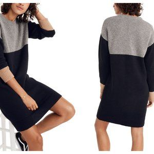 NEW! Madewell Colorblock Sweater Dress (M)